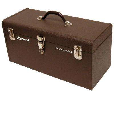Professional 20 in. Industrial Tool Box in Brown Wrinkle