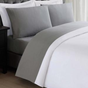 Anytime Grey Twin XL Sheet Set by