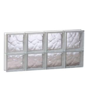31 in. x 13.5 in. x 3.125 in. Frameless Wave Pattern Non-Vented Glass Block Window