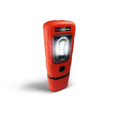Rechargeable 360-Degree Swivel Compact Work Light and Torch, Red