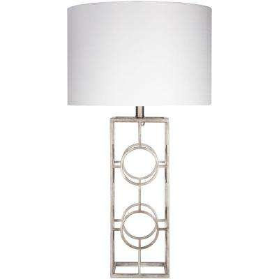 Corradino 28 in. Antiqued Silvertone Indoor Table Lamp