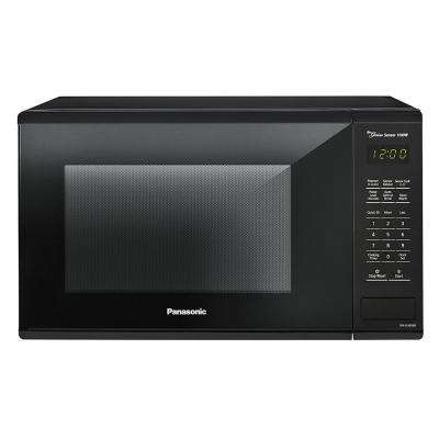 Panasonic 1 3 Cu Ft Countertop Microwave In Black With Genius Cooking Sensor Nnsu656b The Home Depot