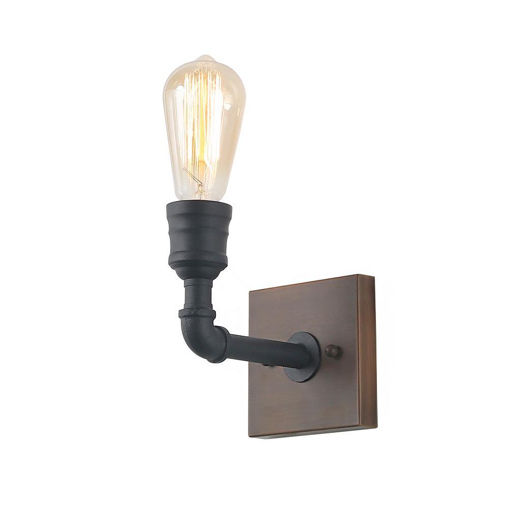 1-Light Black Bathroom Vanity Light