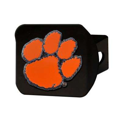 NCAA Clemson University Color Emblem on Black Hitch Cover