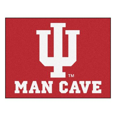 Indiana University Red Man Cave 3 ft. x 4 ft. Area Rug