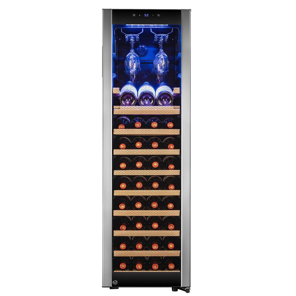 50.25 in. 46-Bottle Freestanding Single Zone Compressor Freestanding Wine Cooler