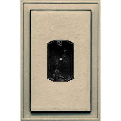 8.125 in. x 12 in. #013 Light Almond Jumbo Electrical Mounting Block Centered