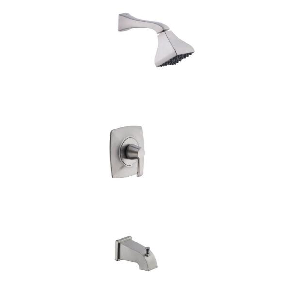 Adelyn Single-Handle 1-Spray Tub and Shower Faucet in Brushed Nickel (Valve Included)