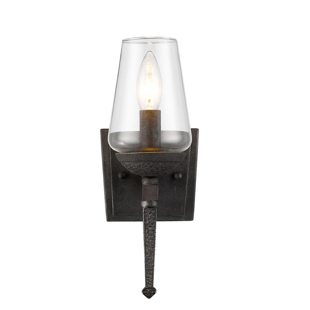 Marcellis Dark Natural Iron 1-Light Bath Light
