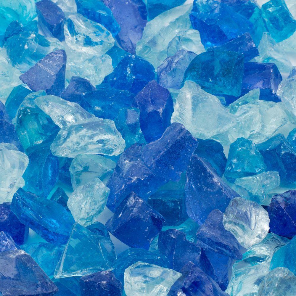 1/2 in. 10 lb. Medium Blue Hawaii Landscape Fire Glass