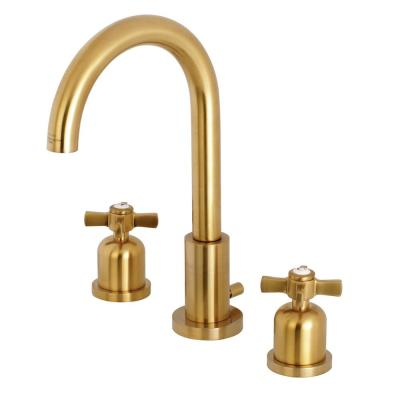 Millennium 8 in. Widespread 2-Handle Bathroom Faucet in Brushed Brass