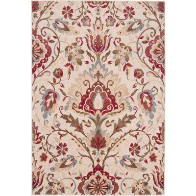 Ceraria Dark Red 10 ft. x 13 ft. Indoor Area Rug