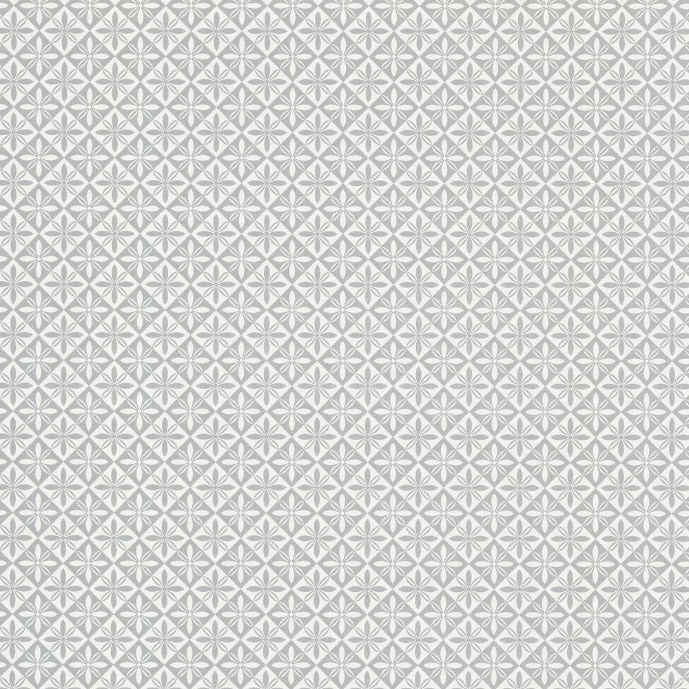 Fluge Grey Geometric Wallpaper Sample