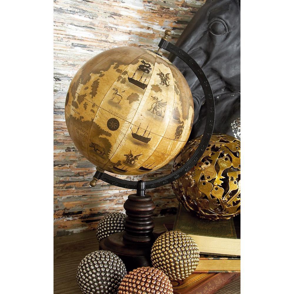 Rustic Decorative Sepia-Toned Globe