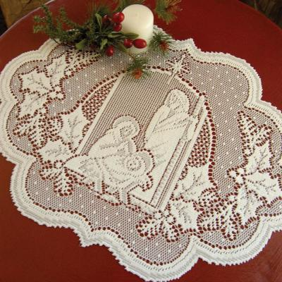 Silent Night 14 in. x 20 in. White Placemat (Set of 4)