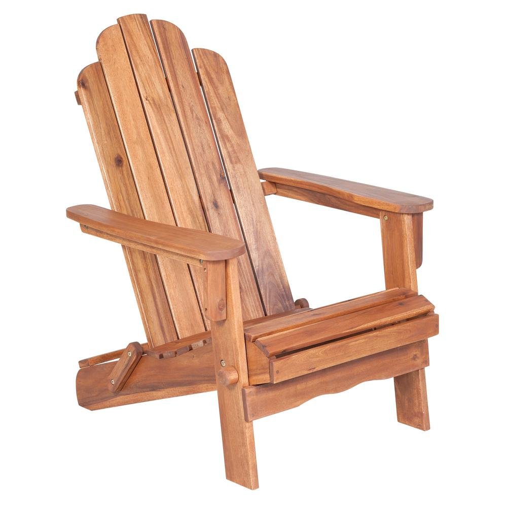 Walker Edison Furniture Company Boardwalk Brown Outdoor Adirondack Chair