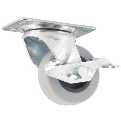 2 in. Swivel with Non-Marking Rubber Caster