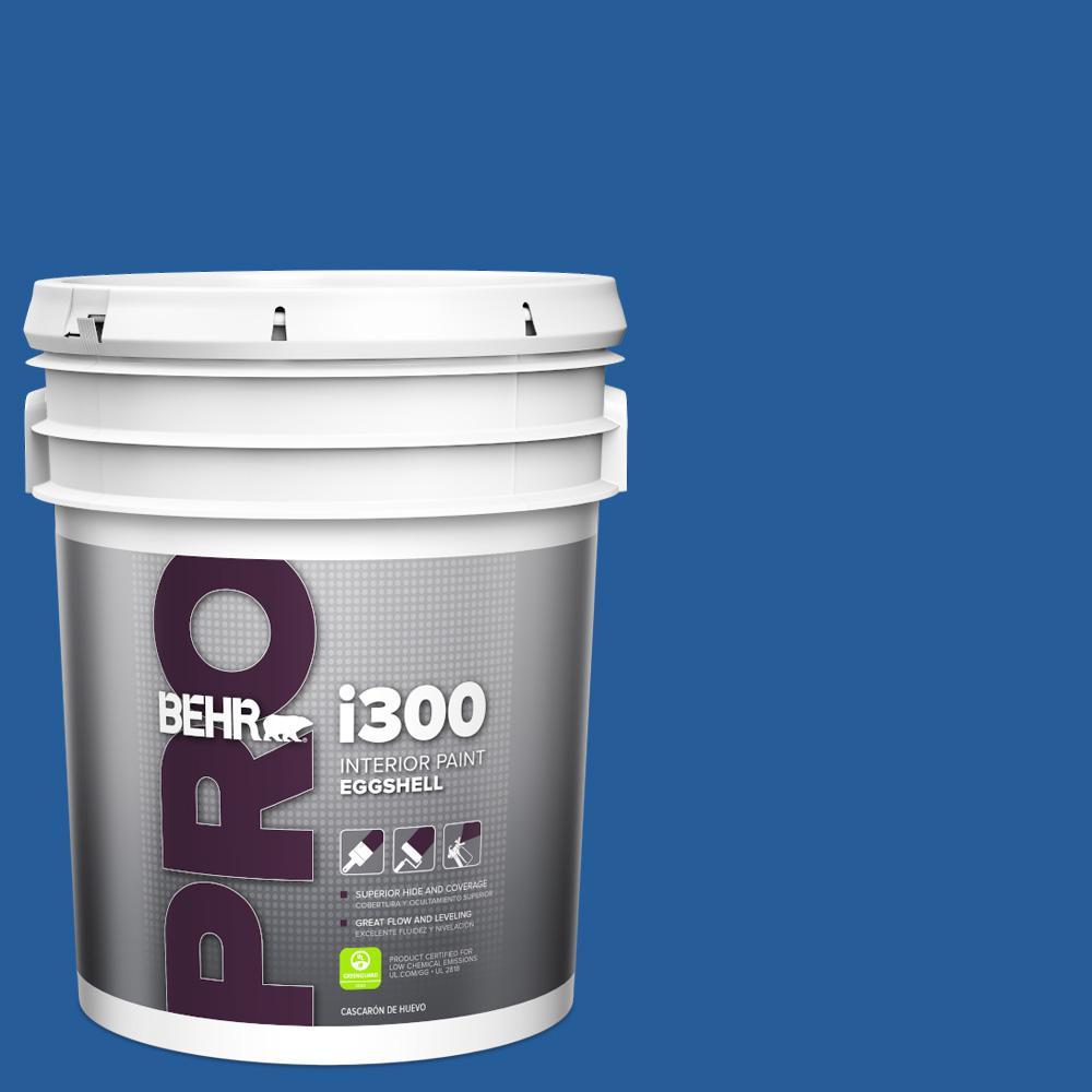 Behr Pro 5 Gal P510 7 Beacon Blue Eggshell Interior Paint Pr33305 The Home Depot