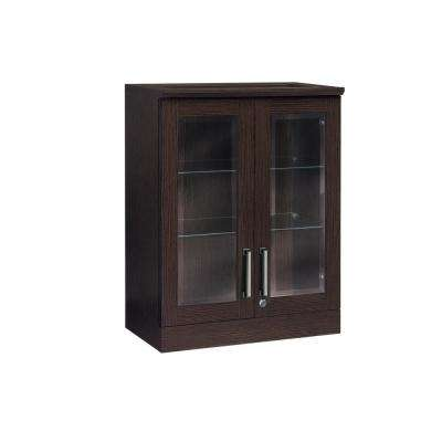 Home Bar Espresso Short Wall Shaker Style Bar Cabinet