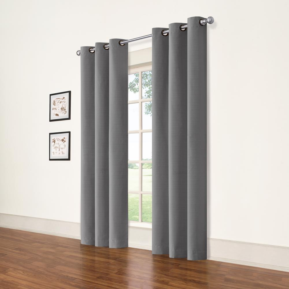 Eclipse Cohen Smoke Blackout Curtain 42 in. W x 63 in. L