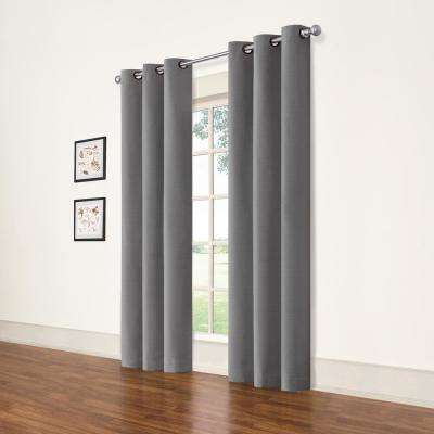 Cohen Smoke Blackout Curtain 42 in. W x 63 in. L