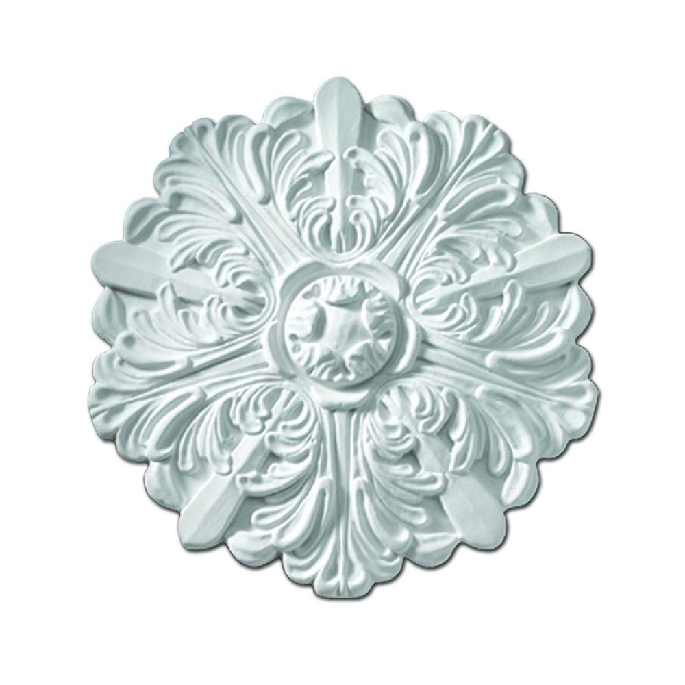 Fypon 13 in. x 13 in. x 1-1/8 in. Polyurethane Eaton One-Piece Ceiling Medallion