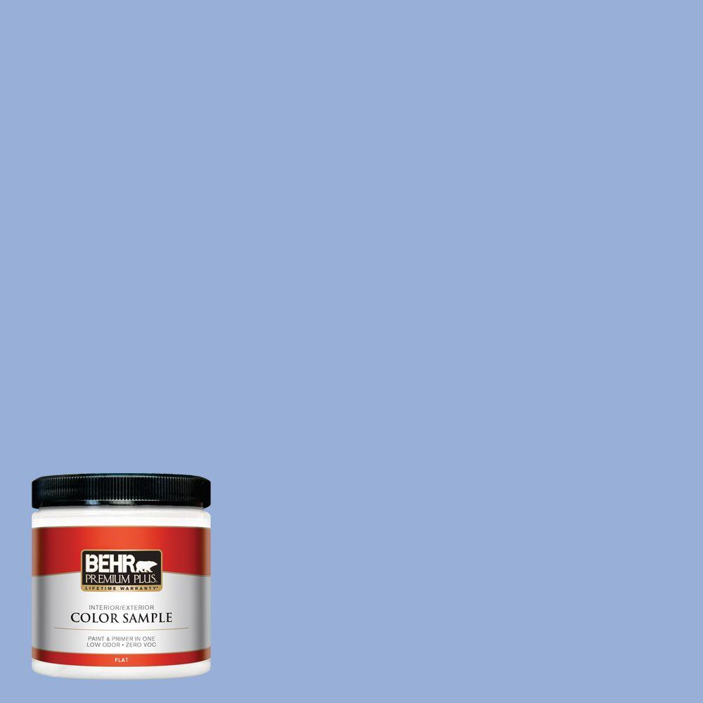 BEHR Premium Plus 8 oz. #590B-4 Anemone Interior/Exterior Paint Sample