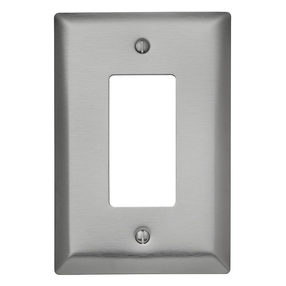 302 Series 1-Gang Jumbo Decorator Wall Plate, Stainless Steel