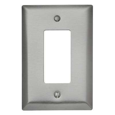 302 Series 1-Gang Jumbo Decorator Wall Plate, Stainless Steel