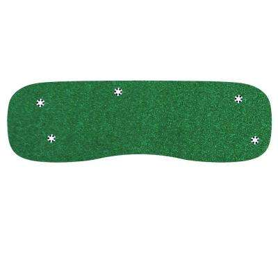 4 ft. x 12 ft. Indoor/Outdoor Synthetic Turf 5-Hole Practice Putting Golf Green