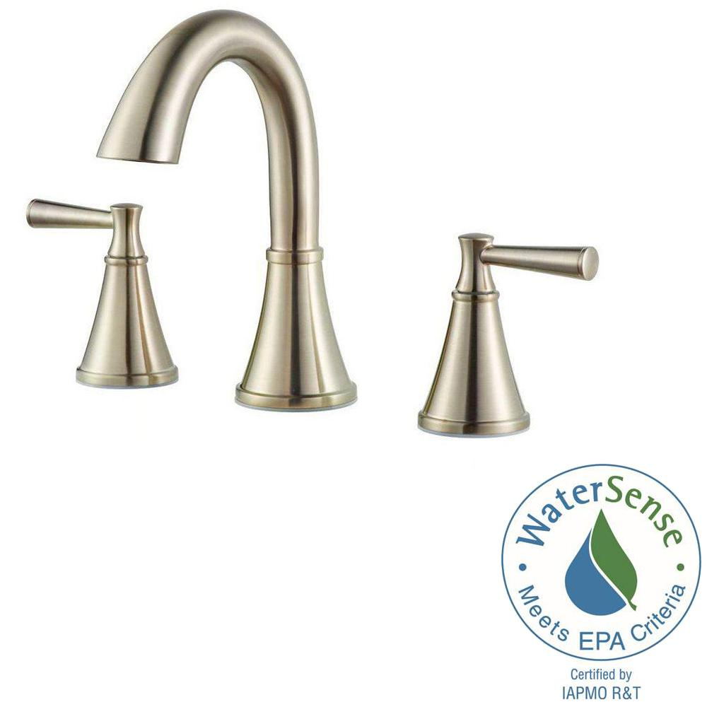 Pfister Cantara 8 in. Widespread 2-Handle High-Arc Bathroom Faucet in Brushed Nickel
