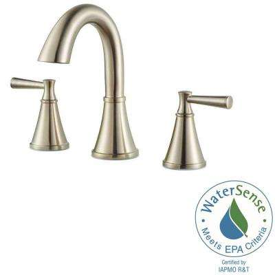Cantara 8 in. Widespread 2-Handle High-Arc Bathroom Faucet in Brushed Nickel