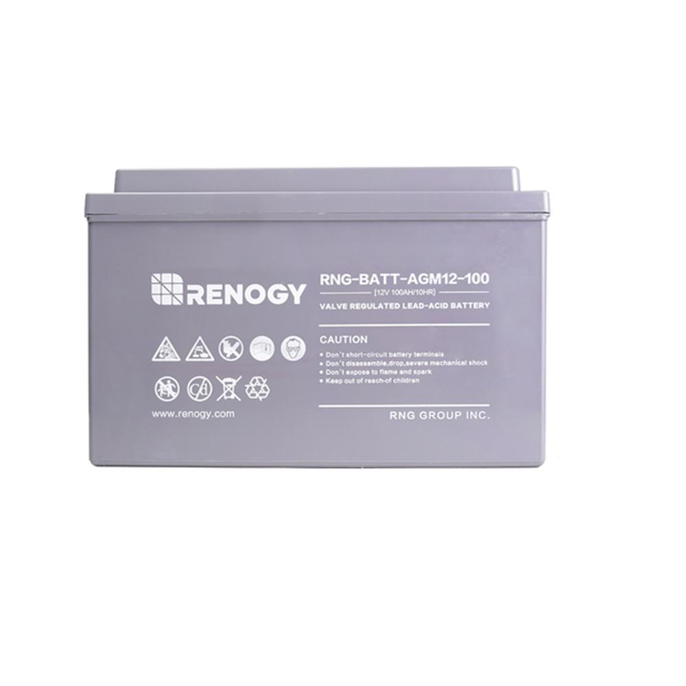 Deep Cycle AGM Battery 12-Volt 100Ah for Solar Panel