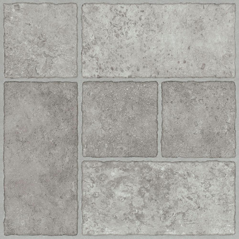 TrafficMASTER Take Home Sample - Bodden Bay Grey Peel and Stick Vinyl Tile Flooring - 5 in. x 7 in.