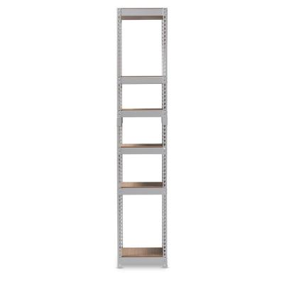 Gavin White Storage Rack with 5-Metal shelves