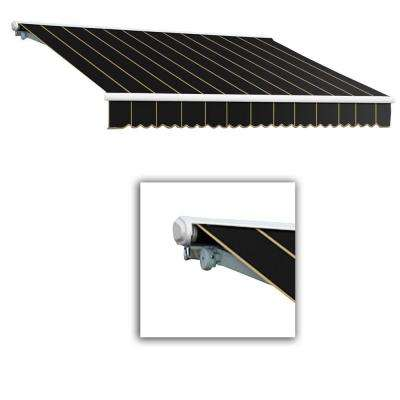 10 ft. Galveston Semi-Cassette Manual Retractable Awning (96 in. Projection) in Black Pin
