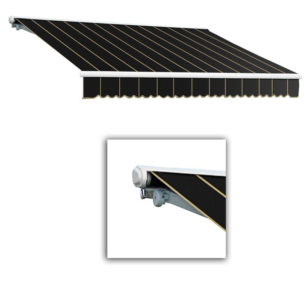 AWNTECH 12 ft. Galveston Semi-Cassette Manual Retractable Awning (120 in. Projection) in Black Pin