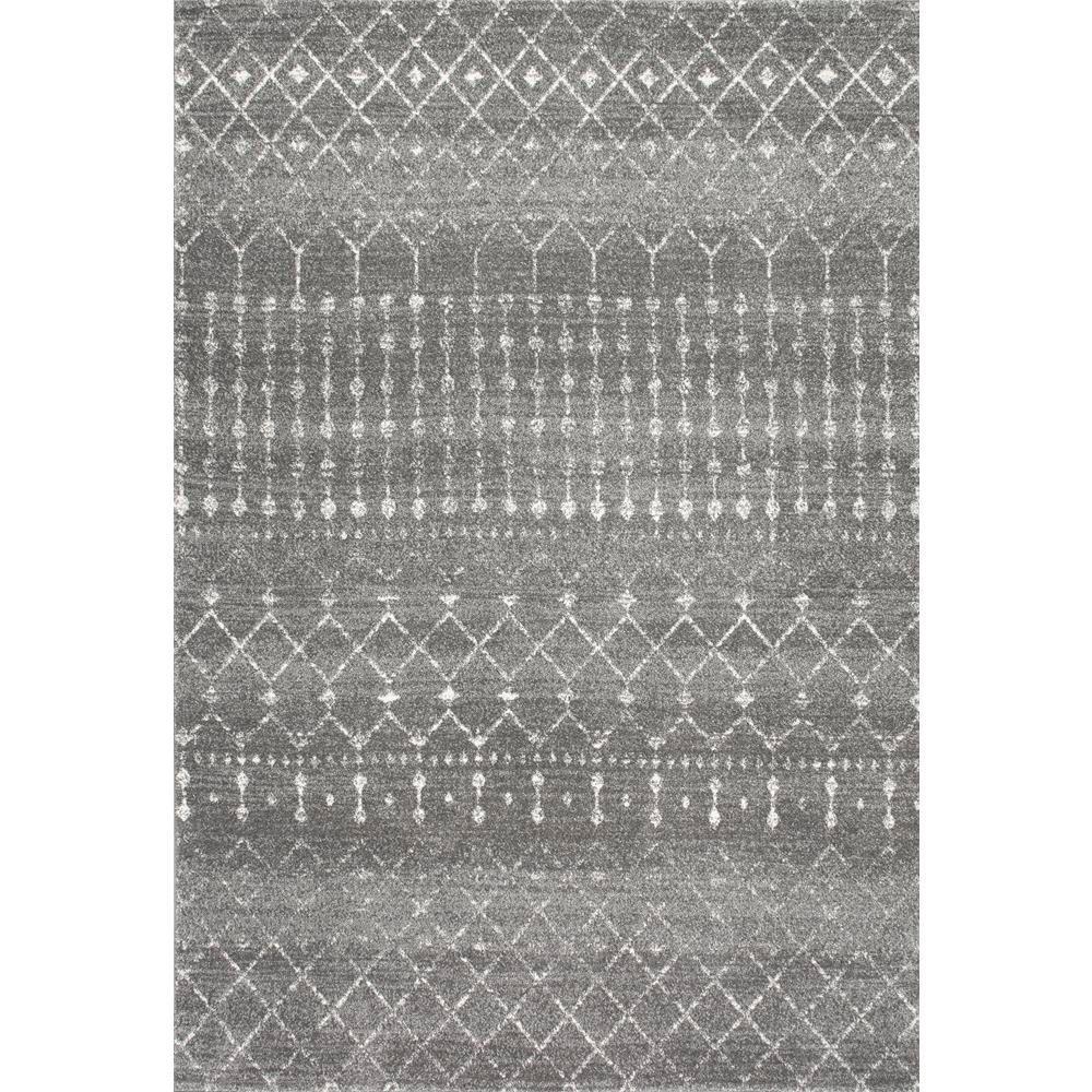 Nuloom Blythe Modern Moroccan Trellis Dark Gray 8 Ft X 10 Ft Area Rug Rzbd16b 8010 The Home Depot