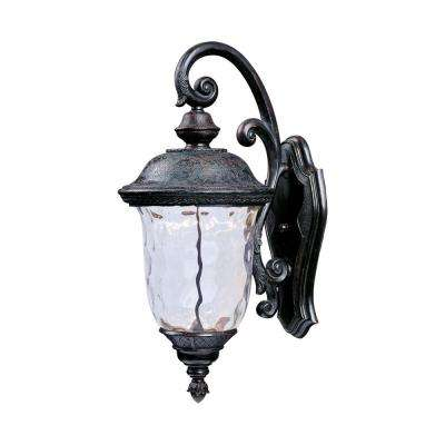 Carriage House 1-Light Oriental Bronze Integrated LED Outdoor Wall Lantern Sconce