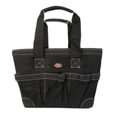 12 in. Soft Sided Construction Work Bin Tool Tote in Black