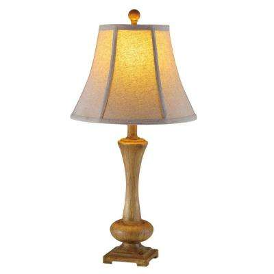Fangio Lighting's W-6157ANTBRN 26 in. Antique Brown Resin Table Lamp