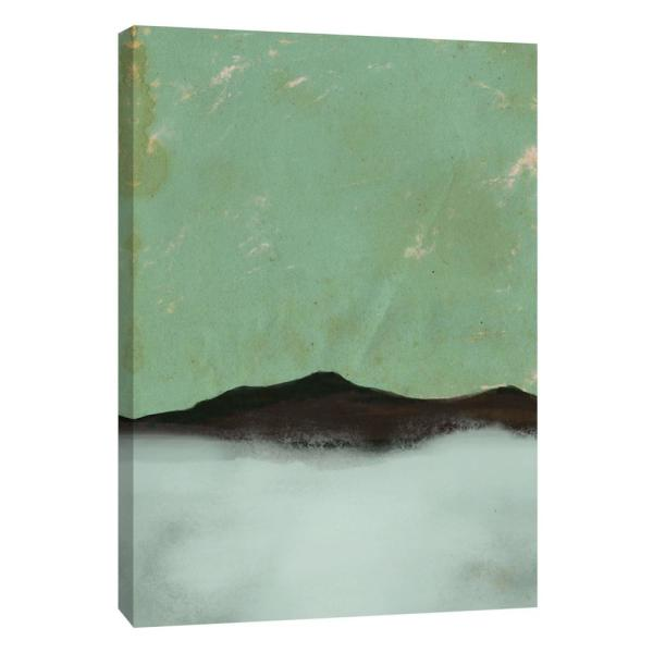 photo regarding Printable Canvas Paper named 12 within. x 10 in just. Foggy Paper Landscape A Revealed Canvas Wall Artwork