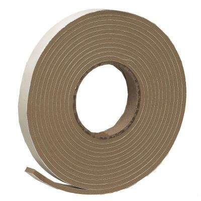 E/O 3/4 in. x 3/16 in. 17 ft. Brown Vinyl Foam Weather-Seal Self-Stick Tape
