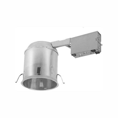 H750 6 in. Aluminum Recessed Lighting Housing for Remodel Ceiling LEDT24 CompliantConnectors, InsulationContact, AirTite