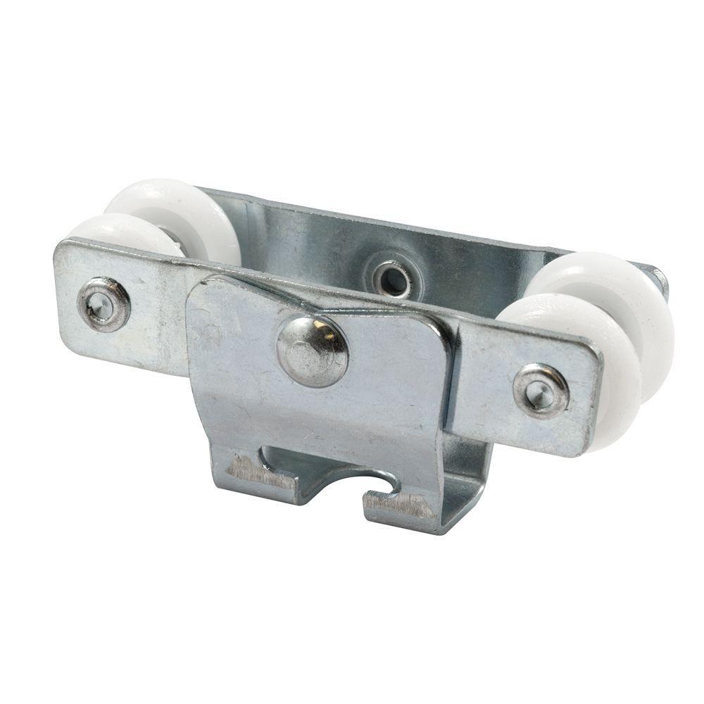 Bypass Door Roller, 7/8 in. Nylon Wheels, Heavy Duty Design