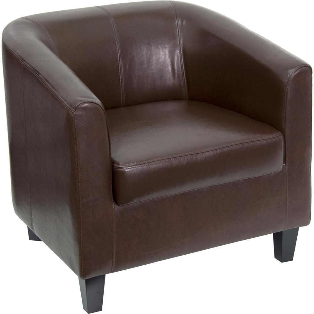 Flash Furniture Brown Leather Office Guest Chair Reception
