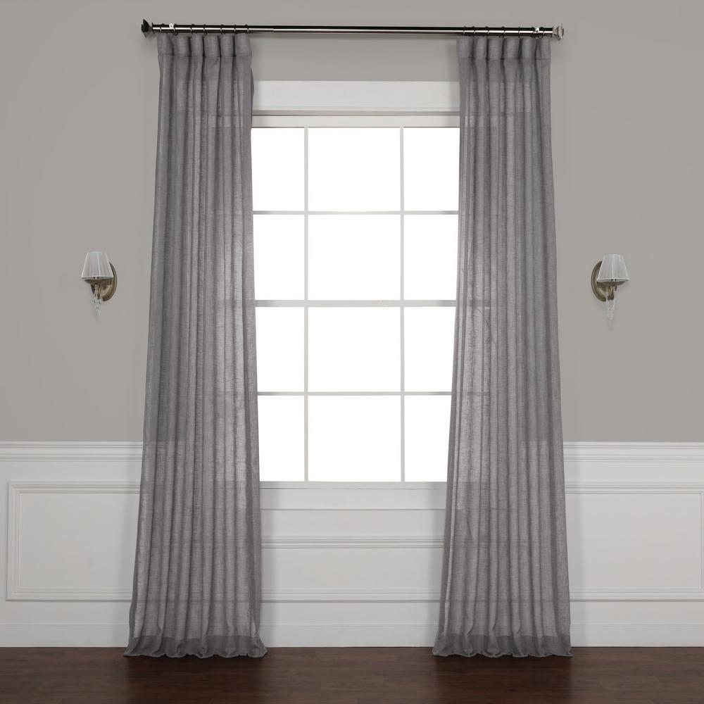 Sheer Linen Curtains Grey Linen Curtains And: Exclusive Fabrics & Furnishings Gravel Grey Solid Faux