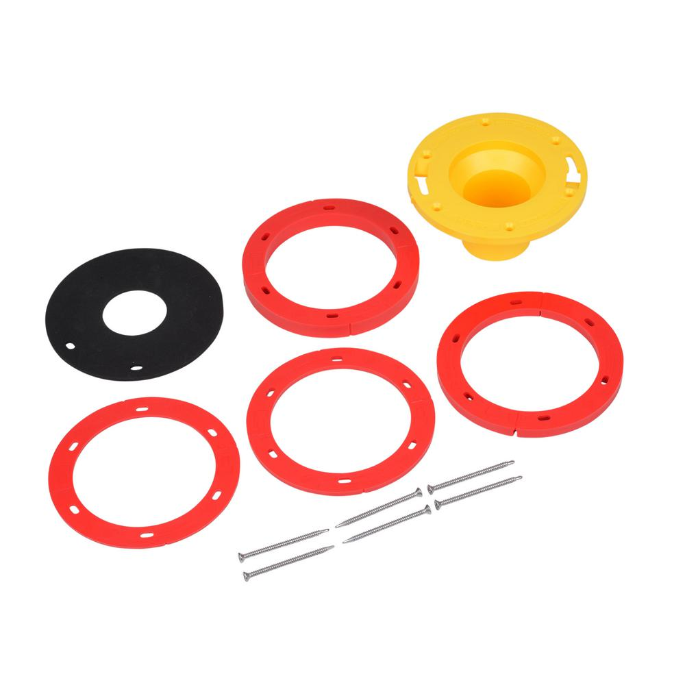 Oatey 1/4 in  - 1-5/8 in  Toilet Flange Extender Kit