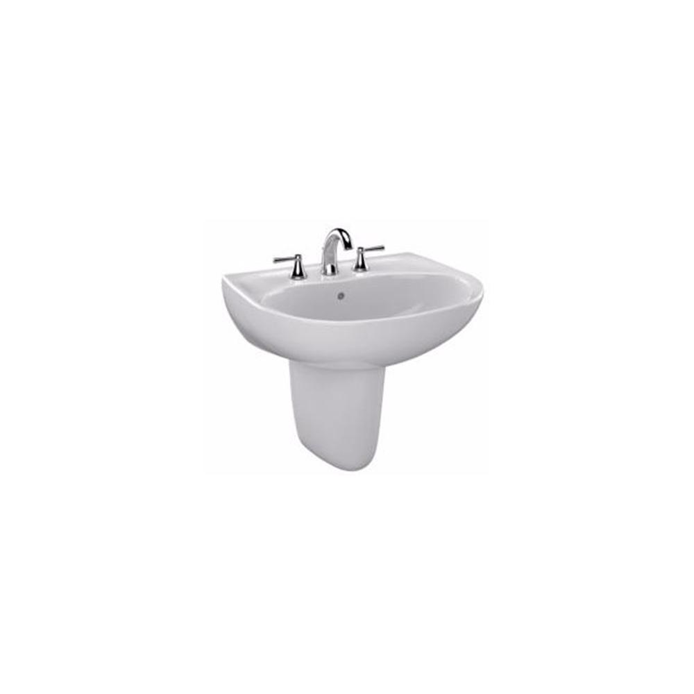 Toto Supreme 23 In Wall Mount Bathroom Sink Combo With Single Faucet Hole In Colonial White