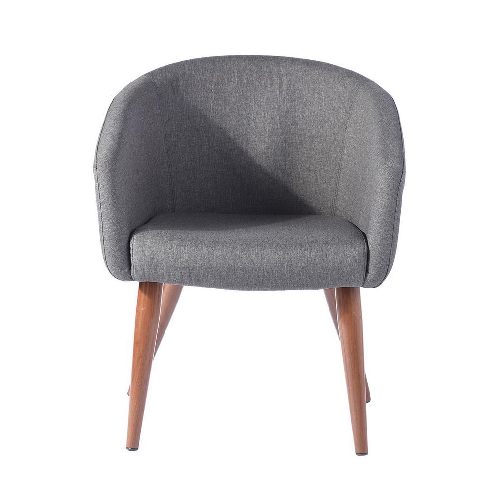 Aokelan Gray Linen Cover Arm Chair